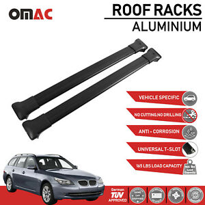 Roof Rack Cross Bars Luggage Carrier Black For Bmw 5 Series E61 Touring 2006 10