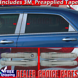 For 2005 2010 Chrysler 300 Chrome Door Handle Covers stainless 6pc Pillar Posts