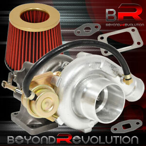 T3 T4 Turbo Charger Flange Vband Internal Wastegate Flow Air Filter Gold Red