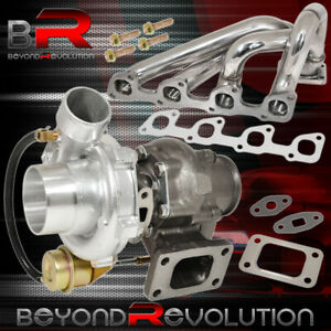 90 93 Volvo 240 2 3l Stainless Steel Manifold T3 T4 Jdm Turbo Charger V Band