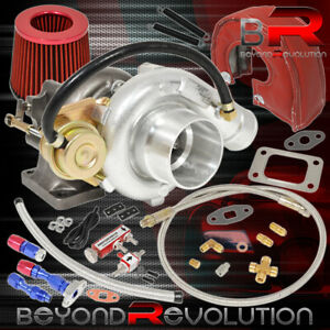 T3 t4 Turbo V bnad Air Filter Heat Shield Oil Lines Boost Controller Red