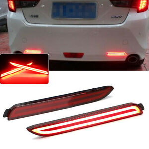 For Lexus Isf Rcf Rx300 Red Lens Rear Taillight Reflectors Brake Red Led Lights