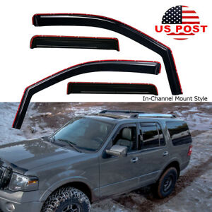 In Channel Smoke Window Visor Rain Guard For Lincoln Navigator Ford Expedition