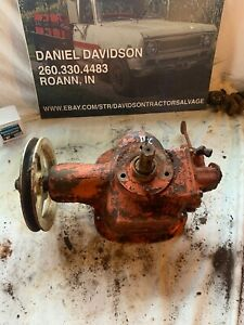 Allis Chalmers C b Belt Pulley Pto Assembly With Hydraulic Pump