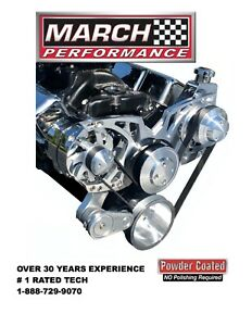 March Performance Alt p s Style Track Serpentine System For Big Block Chevy