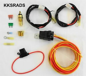 Dual Electric Cooling Fan Wiring Install Kit 185 165 Thermostat 50 Amp Relay