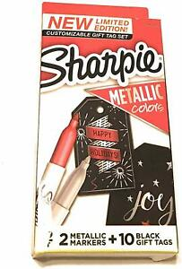 Sharpie Limited Edition Gift Tag Set 2 Metallic Markers Rubysilver 10 Tags