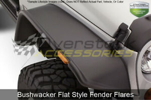 Flat Style Fender 2pc Rear Flares Oe Matte Black For 1987 1995 Jeep Wrangler