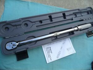 Snap On 1 2 Dr new Style Torque Wrench qd3r250 50 250 Ft lb W case Nice
