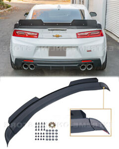 Rear Spoiler For 16 up Camaro 1le Extended V2 Style Trunk Lid Wickerbill Wing