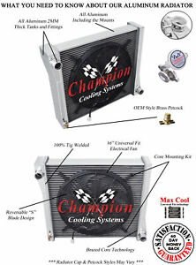 3 Row Reliable Champion Radiator W 16 Fan For 1941 Jeep Willys cc41wlb