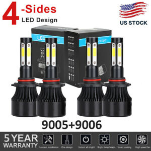 4side 9005 9006 Led Headlight Bulbs For Dodge Charger 2006 2007 2008 2009 2010