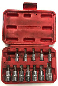 Mac Tools St13b 13 Piece 1 4 3 8 1 2 Drive Torx Star Driver Socket Set