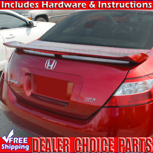 2006 2011 Honda Civic Si 2dr Factory Style Spoiler Trunk Wing W led Unpainted