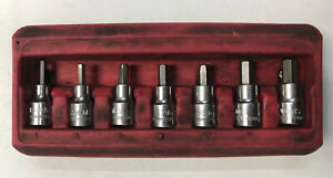 Mac Tools Sxmas7pt 7 Piece 3 8 Drive Metric Short Hex Bit Driver Socket Set