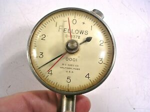 Fellows Dial Indicator S8372 2 Face 0001 With Mounting Ring