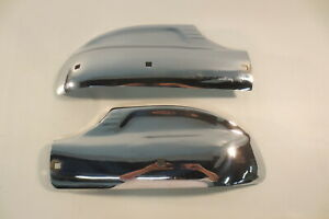 1941 Plymouth Special Deluxe Bumper Guards Rear Wrap Arounds Wing Tips Original