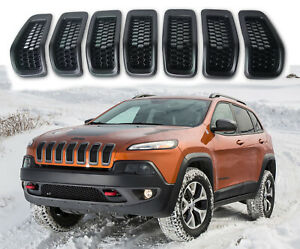 Black Grill Inserts For Jeep Cherokee 2014 2018 Grille Inserts Honeycomb Mesh