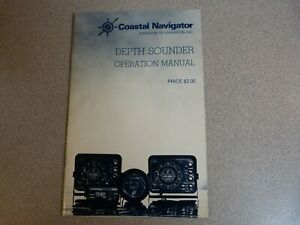 COASTAL NAVIGATOR DEPTH SOUNDER OPERATION MANUAL