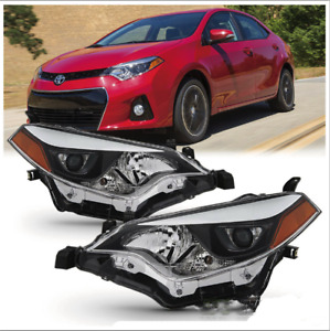 For 2014 2016 Toyota Corolla Led Headlights Headlamp Aftermarket Left Right Us