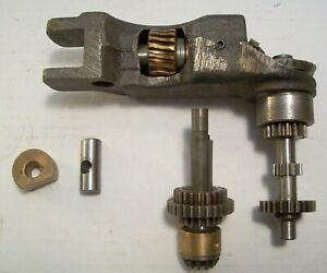 Bridgeport Mill J Head Feed Worm Gear Assembly Cradle And Feed Gears