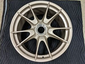 19 Oem Porsche 997 2 911 Gt3rs White Gold Center Lock Wheel Rim 99736215796539