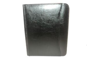 New Renaissance Writing Pad Padfolio Black Italian Style Leather By Leed s