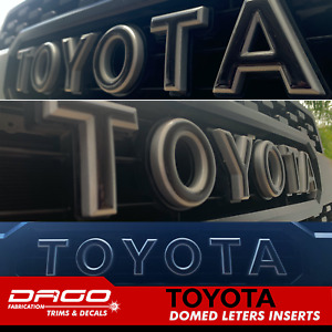 Toyota Tacoma 2016 2020 Trd Pro Grill Letter Inserts 3d Raised Domed Gel