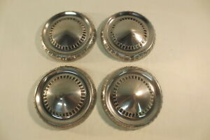 1960 s Ford Falcon Dog Dish Poverty Bottle Hub Caps Hubcaps Original Stainless
