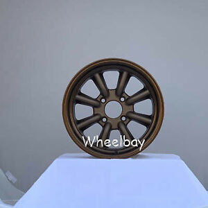 4 Rota Wheel Rkr 15x8 0 4x114 3 Speed Bronze 240z Ae86 Last Set