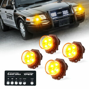 Xprite Yellow Hideaway Led Strobe Lights Vehicle Headlights High Intensity Amber