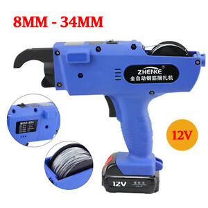 8 34mm Automatic Handheld Rebar Tier Tying Machine 1tying Wire