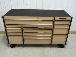 Snap On Combat Tan Kmp1163 Tool Box And Stainless Steel Work Top