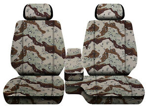 Car Seat Covers Camo Desert Storm Fits Toyota Tacoma 01 04 Front Bench 60 40 2hr