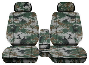 Car Seat Covers Digital Camo Green Fits Toyota Tacoma 01 2004 Fr Bench 60 40 2hr