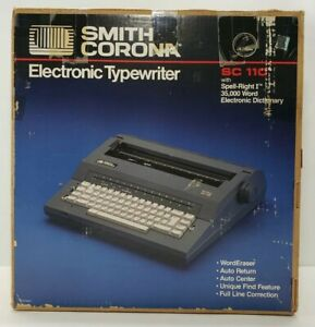 Smith Corona Sc 110 Portable Electric Typewriter Spell Right I Dictionary Ink