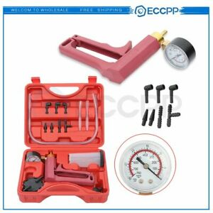 13pc Car Handheld Vacuum Pressure Pump Brake Bleeder Gauge Fluid Tester Tool Kit