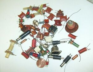 Mixed Lot Variable Rf Coil Inductor Vintage Transistor Radio Parts Crystal Ham