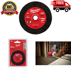 Milwaukee 3 Inch Metal Cut Off Wheel Angle Grinder Saw Blade Cutter Disc 3 Pack