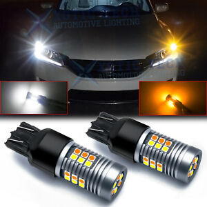Switchback Led Bulbs Front Turn Signal Light W Drl For Honda Accord 2016 2017