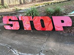 Neon Letter Sign Neon Business Sign Stop
