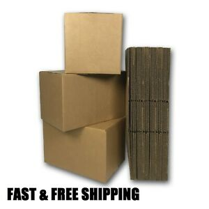100 12x6x6 Cardboard Packing Mailing Moving Shipping Boxes Corrugated Boxs New