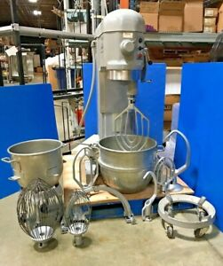 Hobart 60qt H 600 Donut Pizza Dough Mixer With Multiple Attachments Works Great