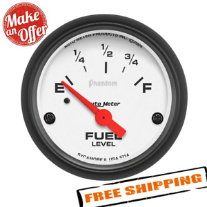 Auto Meter 5714 2 1 16 Meter Phantom Fuel Level Gauge Electrical