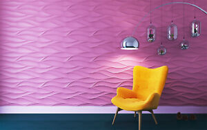 3d Wall Panels Mold tenderness Decorative Art Plastic Form For Plaster Gypsym