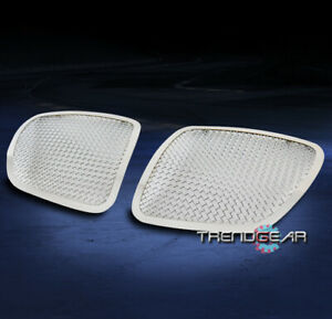 For 2006 2009 Pontiac Solstice Main Upper Stainless Mesh Grille Grill Chrome 2pc