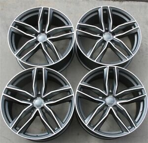 Set 4 20 20x9 Black Wheels Rims 5x112 35mm Audi A4 S4 A6 Q5 S5 A5 S6 Atlas