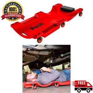 Under Car Mechanic Trolley Shop Creeper Headrest Heavy Duty Roller Low Profile