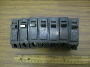 seven General Electric Circuit Breakers Rt 692 Type Thob 1 Pole 15a