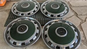 1970 1971 Ford Thunderbird Wheel Covers Green